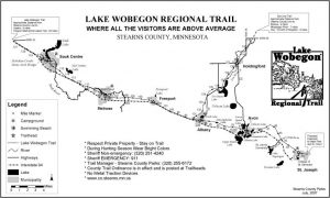 Lake Wobegon Trail - lack and whits map