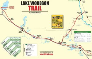 Lake Wobegon Trail - 1 page color map